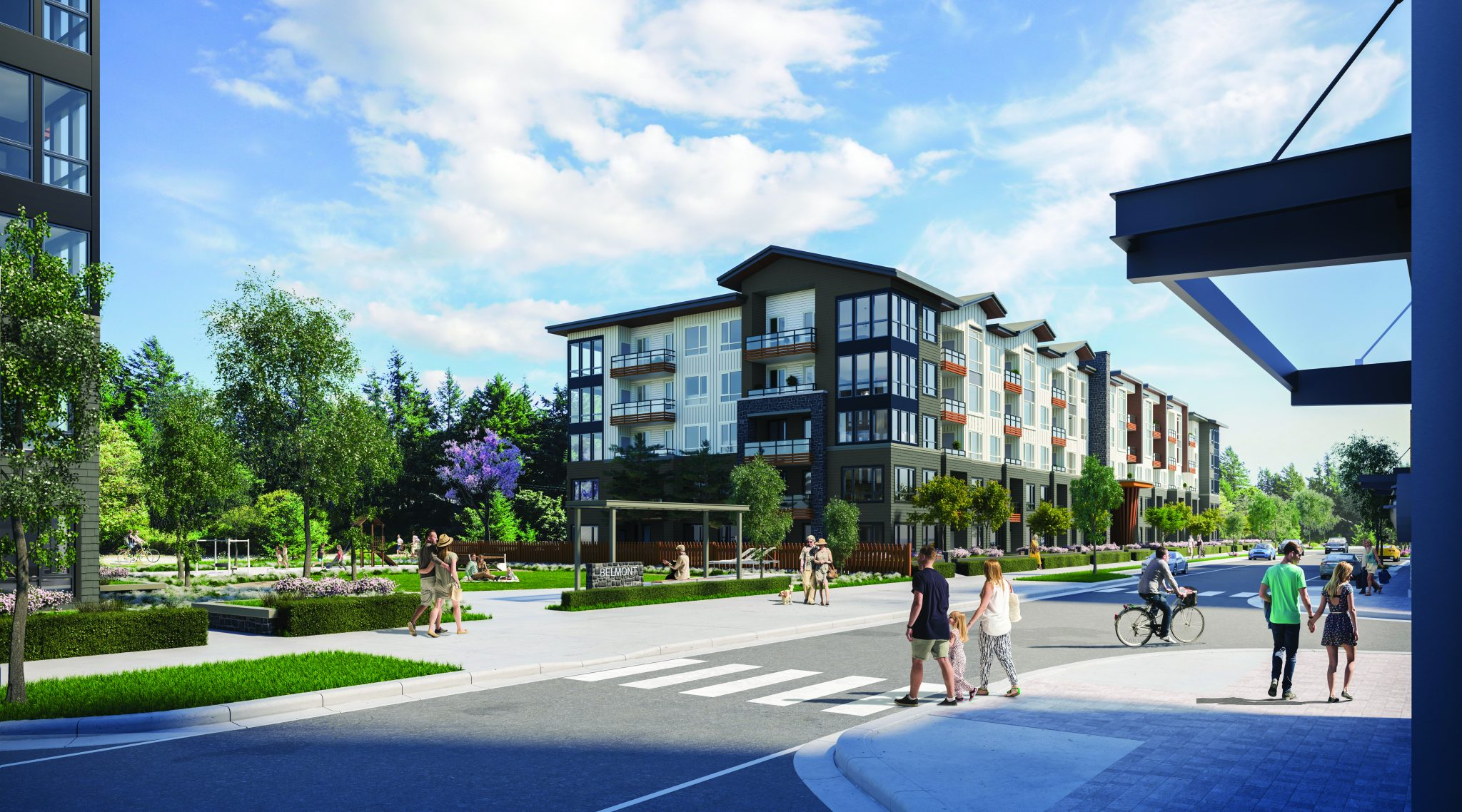 #MyBelmont is a unique place where trail meets home meets market. Residents have unparalleled access to both natural and urban amenities. Lush outdoor spaces seamlessly connect homes to flourishing West Coast forest and trails. While 160,000 square feet of local favourites and convenient necessities are only steps away including the landmark Thrifty Foods. This blend of urban lifestyle alongside the Galloping Goose Trail in Langford sets a new standard for urban living in the Westshore.