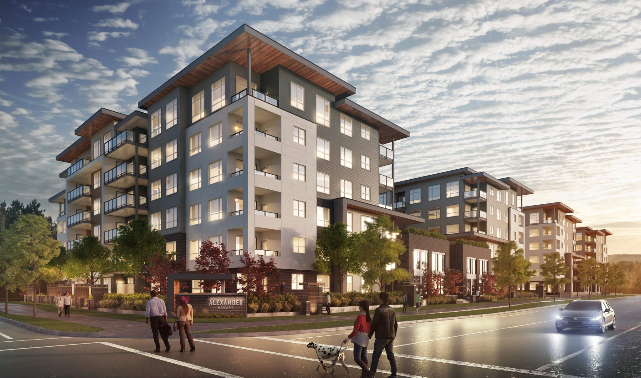 Alexander Square will become home to over 300 new homeowners throughoutt 2021 and 2022 who will love to live across from Willoughby's Town Centre, featuring shops, restaurants, yoga, parks, schools, plus easy access to Highway 1, Golden Ears Way, and Fraser Highway. And you're only a short drive to Willowbrook Mall, Walnut Grove, and the historic Fort Langley.