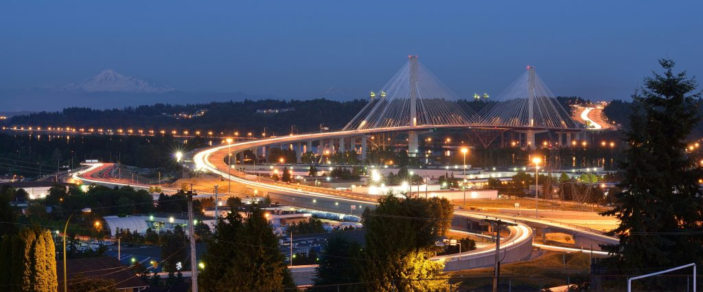 The New Port Mann Bridge, one of the widest bridges in the world