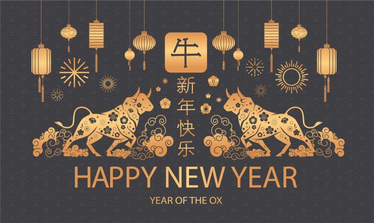 Gong Xi Fa Chai! Wishing You a Prosperous Chinese New Year 2021. In Chinese culture, the Ox is a valued animal.