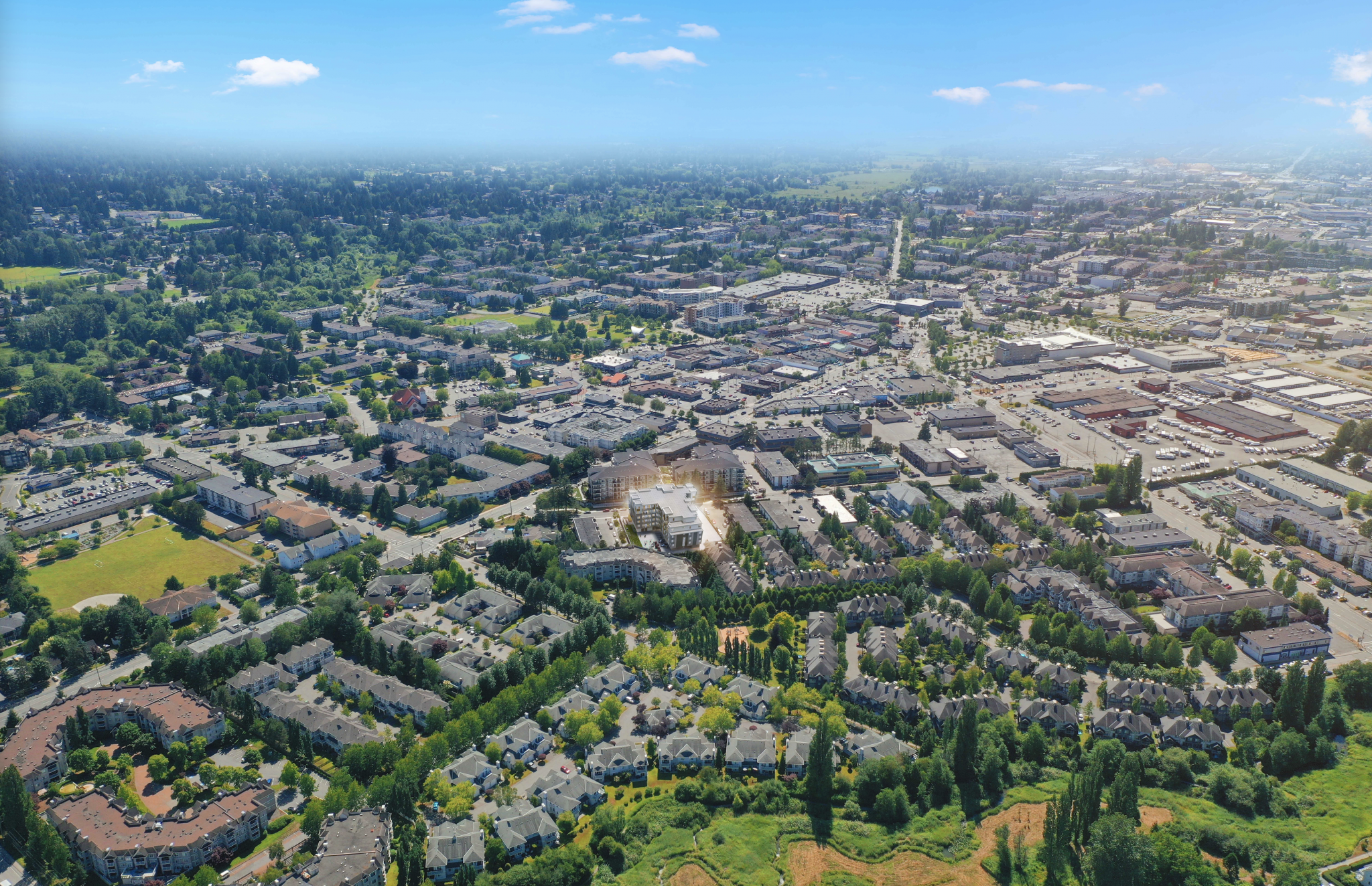 Downtown_Langley_Arial_View